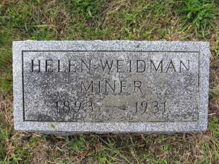 MINER, HELEN WEIDMAN - Union County, Ohio | HELEN WEIDMAN MINER - Ohio Gravestone Photos