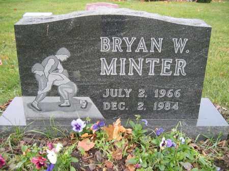 MINTER, BRYAN W. - Union County, Ohio   BRYAN W. MINTER - Ohio Gravestone Photos