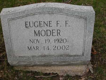 MODER, EUGENE F.F. - Union County, Ohio   EUGENE F.F. MODER - Ohio Gravestone Photos