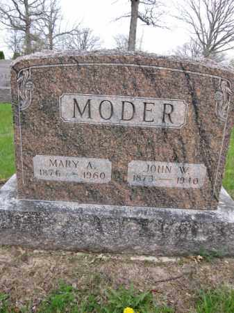 MODER, MARY A. - Union County, Ohio | MARY A. MODER - Ohio Gravestone Photos