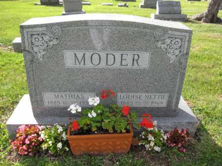 MODER, LOUISE NETTIE - Union County, Ohio | LOUISE NETTIE MODER - Ohio Gravestone Photos
