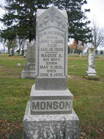 MONSON, MAGGIE A. - Union County, Ohio   MAGGIE A. MONSON - Ohio Gravestone Photos