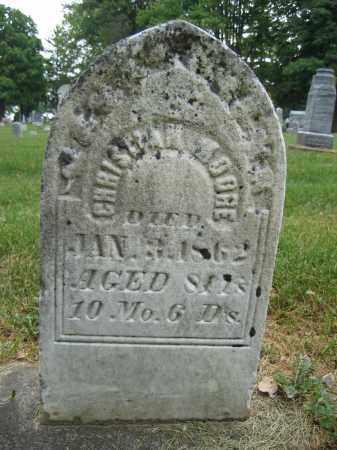 MOORE, CHRISTIAN - Union County, Ohio | CHRISTIAN MOORE - Ohio Gravestone Photos