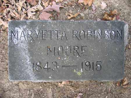MOORE, MARYETTA ROBINSON - Union County, Ohio | MARYETTA ROBINSON MOORE - Ohio Gravestone Photos