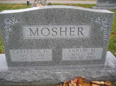 MOSHER, CARLETON D. - Union County, Ohio | CARLETON D. MOSHER - Ohio Gravestone Photos