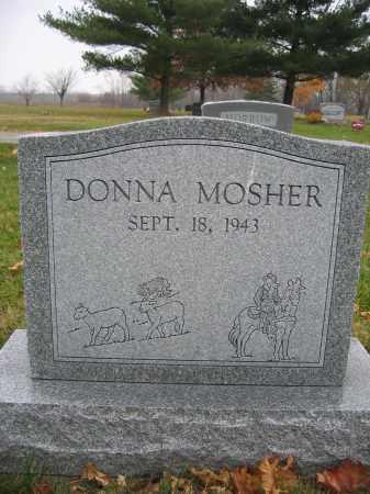 MOSHER, DONNA - Union County, Ohio   DONNA MOSHER - Ohio Gravestone Photos