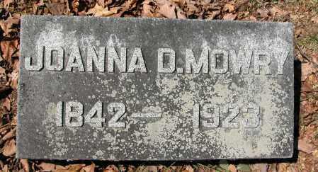 MOWRY, JOANNA D. - Union County, Ohio | JOANNA D. MOWRY - Ohio Gravestone Photos