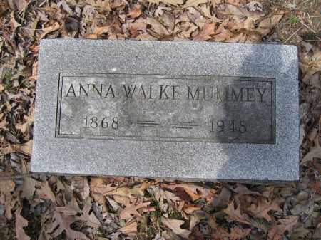 MUMMEY, ANNA WALKE - Union County, Ohio | ANNA WALKE MUMMEY - Ohio Gravestone Photos