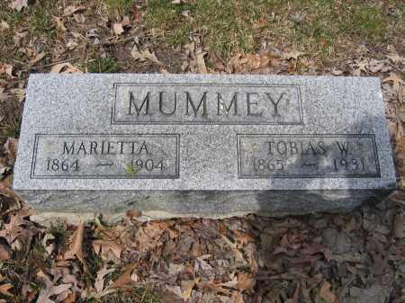 MUMMEY, TOBIAS W. - Union County, Ohio | TOBIAS W. MUMMEY - Ohio Gravestone Photos