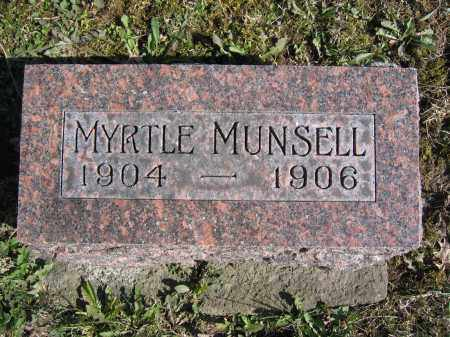 MUNSELL, MYRTLE - Union County, Ohio   MYRTLE MUNSELL - Ohio Gravestone Photos