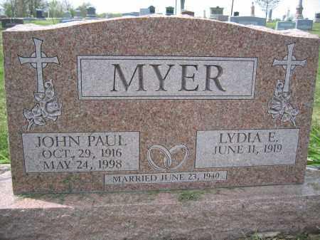 MYER, LYDIA E. - Union County, Ohio | LYDIA E. MYER - Ohio Gravestone Photos
