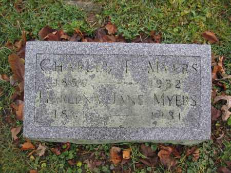 MYERS, CHARLES F. - Union County, Ohio | CHARLES F. MYERS - Ohio Gravestone Photos
