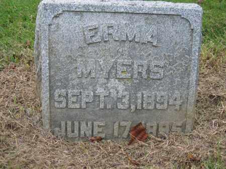 MYERS, ERMA - Union County, Ohio | ERMA MYERS - Ohio Gravestone Photos