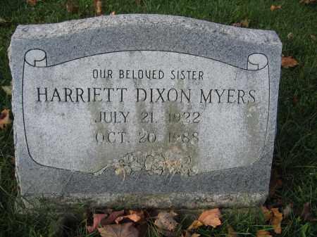 MYERS, HARRIETT DIXON - Union County, Ohio | HARRIETT DIXON MYERS - Ohio Gravestone Photos