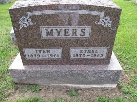MYERS, IVAN - Union County, Ohio   IVAN MYERS - Ohio Gravestone Photos