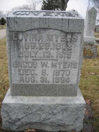 MYERS, JACOB W. - Union County, Ohio | JACOB W. MYERS - Ohio Gravestone Photos