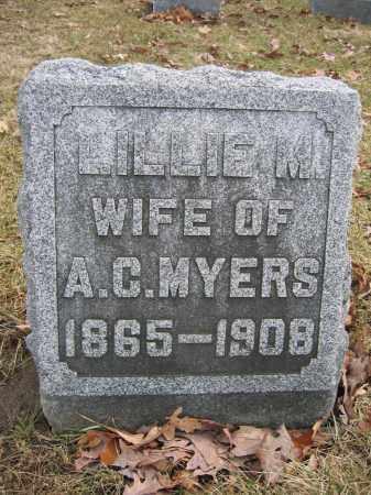 MYERS, LILLIE M. - Union County, Ohio   LILLIE M. MYERS - Ohio Gravestone Photos