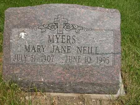 NEILL MYERS, MARY JANE - Union County, Ohio   MARY JANE NEILL MYERS - Ohio Gravestone Photos