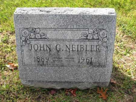 NEIBLER, JOHN G. - Union County, Ohio   JOHN G. NEIBLER - Ohio Gravestone Photos