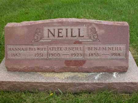 NEILL, HANNAH - Union County, Ohio | HANNAH NEILL - Ohio Gravestone Photos