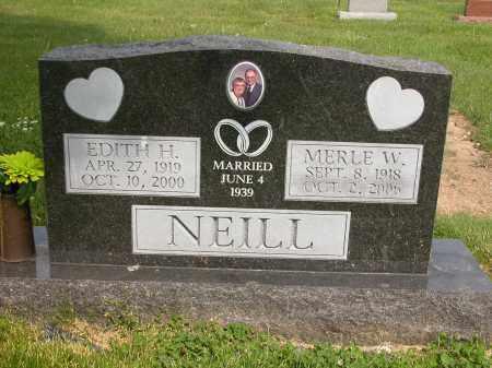 NEILL, MERLE W. - Union County, Ohio | MERLE W. NEILL - Ohio Gravestone Photos