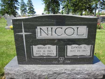 NICOL, DAWNA G. - Union County, Ohio | DAWNA G. NICOL - Ohio Gravestone Photos