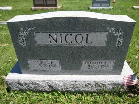 NICOL, FRIEDA E. - Union County, Ohio | FRIEDA E. NICOL - Ohio Gravestone Photos