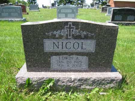 NICOL, EDWIN A. - Union County, Ohio | EDWIN A. NICOL - Ohio Gravestone Photos