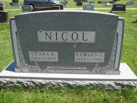 NICOL, CLARA B. - Union County, Ohio | CLARA B. NICOL - Ohio Gravestone Photos