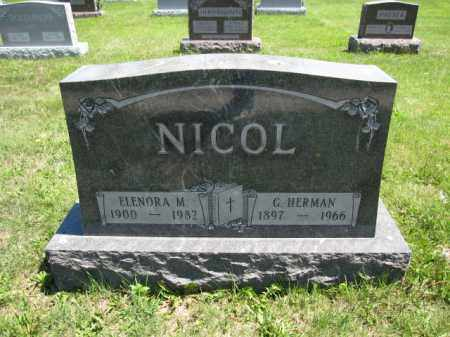 NICOL, G. HERMAN - Union County, Ohio   G. HERMAN NICOL - Ohio Gravestone Photos