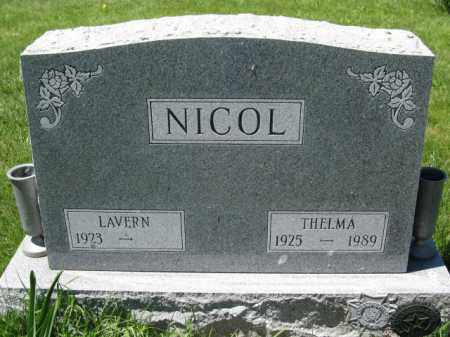 NICOL, THELMA - Union County, Ohio | THELMA NICOL - Ohio Gravestone Photos