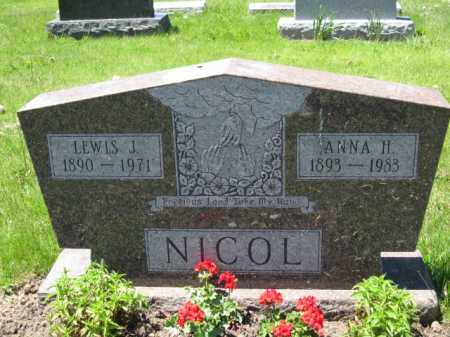 NICOL, ANNA H. - Union County, Ohio | ANNA H. NICOL - Ohio Gravestone Photos