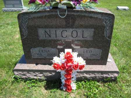 NICOL, LEO - Union County, Ohio | LEO NICOL - Ohio Gravestone Photos