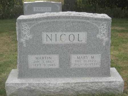 NICOL, MARY M. - Union County, Ohio   MARY M. NICOL - Ohio Gravestone Photos