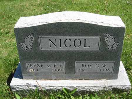 NICOL, IRENE M.E.E. - Union County, Ohio | IRENE M.E.E. NICOL - Ohio Gravestone Photos