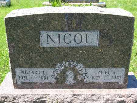 NICOL, WILLARD L. - Union County, Ohio | WILLARD L. NICOL - Ohio Gravestone Photos