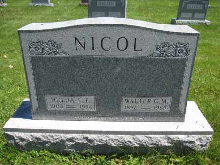 NICOL, WALTER G.M. - Union County, Ohio | WALTER G.M. NICOL - Ohio Gravestone Photos