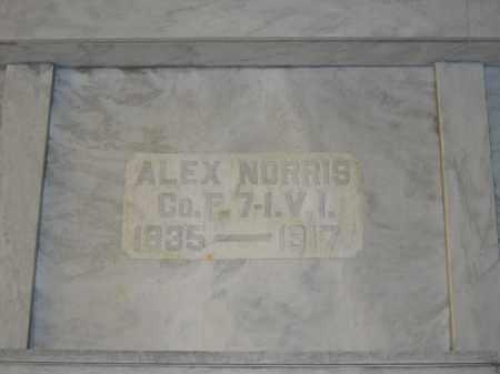 NORRIS, ALEX - Union County, Ohio | ALEX NORRIS - Ohio Gravestone Photos