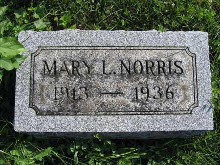 NORRIS, MARY L. - Union County, Ohio | MARY L. NORRIS - Ohio Gravestone Photos