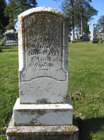 NOWELL, NICHOLAS R. - Union County, Ohio | NICHOLAS R. NOWELL - Ohio Gravestone Photos