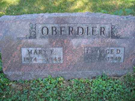 OBERDIER, GEORGE D. - Union County, Ohio | GEORGE D. OBERDIER - Ohio Gravestone Photos