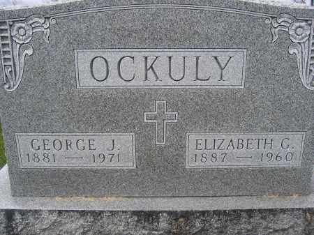 OCKULY, ELIZABETH C. - Union County, Ohio | ELIZABETH C. OCKULY - Ohio Gravestone Photos