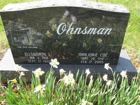 OHNSMAN, MARJORIE COE - Union County, Ohio   MARJORIE COE OHNSMAN - Ohio Gravestone Photos