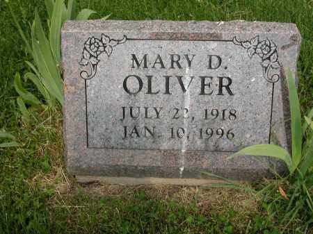 OLIVER, MARY D. - Union County, Ohio | MARY D. OLIVER - Ohio Gravestone Photos