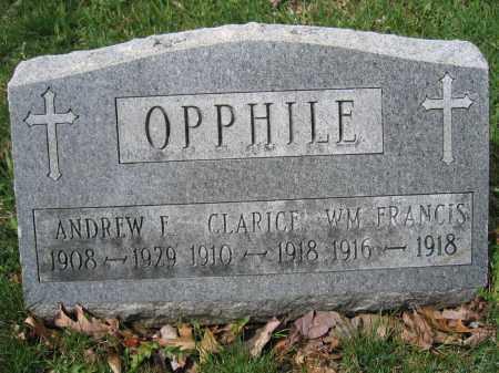 OPPHILE, ANDREW F. - Union County, Ohio | ANDREW F. OPPHILE - Ohio Gravestone Photos