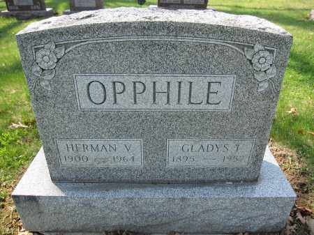 OPPHILE, HERMAN V. - Union County, Ohio | HERMAN V. OPPHILE - Ohio Gravestone Photos