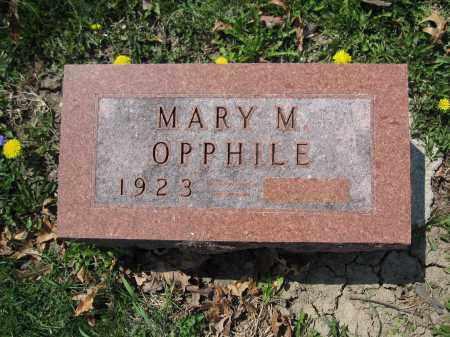 OPPHILE, MARY M. - Union County, Ohio | MARY M. OPPHILE - Ohio Gravestone Photos