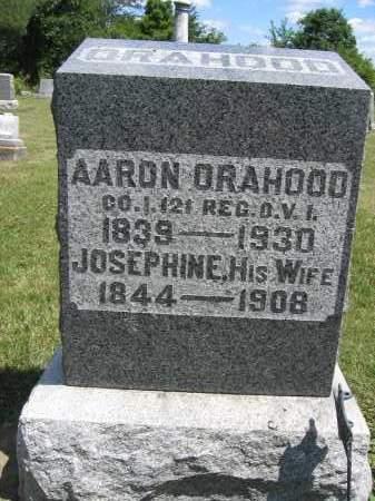 ORAHOOD, AARON - Union County, Ohio | AARON ORAHOOD - Ohio Gravestone Photos