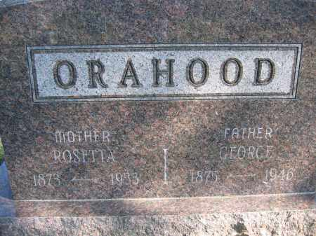 ORAHOOD, GEORGE - Union County, Ohio | GEORGE ORAHOOD - Ohio Gravestone Photos
