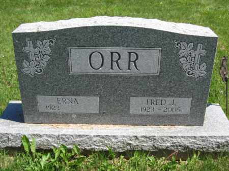 ORR, ERNA - Union County, Ohio | ERNA ORR - Ohio Gravestone Photos